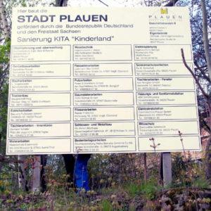 Schild-Bautafel-Kindergarten-Konstrukta-Werbetechnik