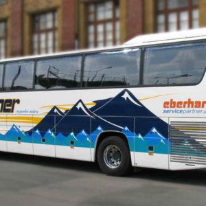 Beschriftung Folie Bus - Verkehrsmittel drummer - Konstrukta Werbetechnik