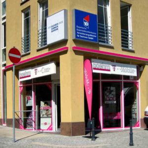 Leuchttransparent Fassade - Boehm Plauen - Konstrukta Werbetechnik